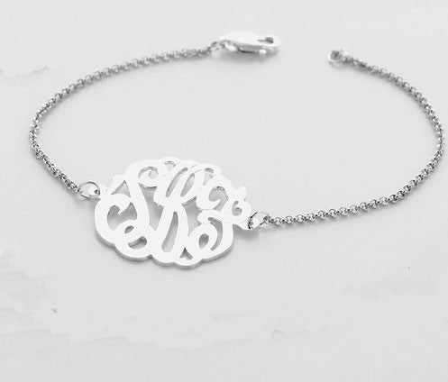 Monogram Bracelet by Purple Mermaid Designs Apparel & Accessories > Jewelry > Bracelets - 1
