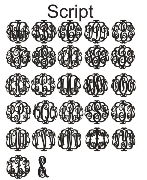 Acrylic Vineyard Round Block Monogram Post Earrings by Moon and Lola Apparel & Accessories > Jewelry > Earrings - 3