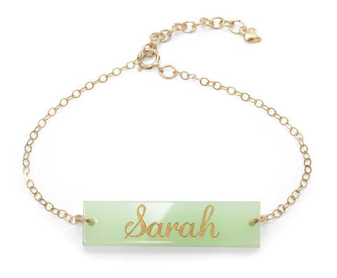 Acrylic Somerville Script Bracelet by Moon and Lola Apparel & Accessories > Jewelry > Bracelets - 1
