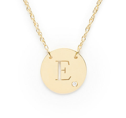 Moon and Lola Initial Diamond Necklace Apparel & Accessories > Jewelry > Necklaces