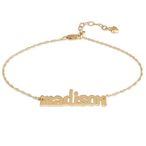 Nameplate Bracelet by Moon and Lola Apparel & Accessories > Jewelry > Bracelets - 1
