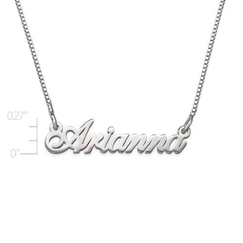 Sterling Silver Mini Name Necklace - Extra Strength Apparel & Accessories > Jewelry > Necklaces - 3