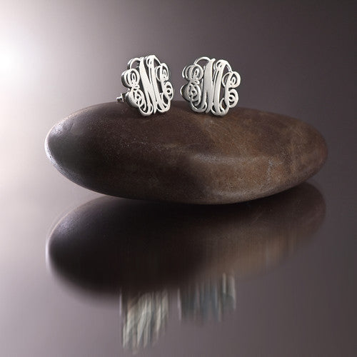 Monogram Stud Earrings Apparel & Accessories > Jewelry > Earrings - 3