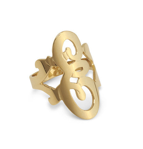Moon and Lola Single Script Initial Ring Apparel & Accessories > Jewelry > Rings