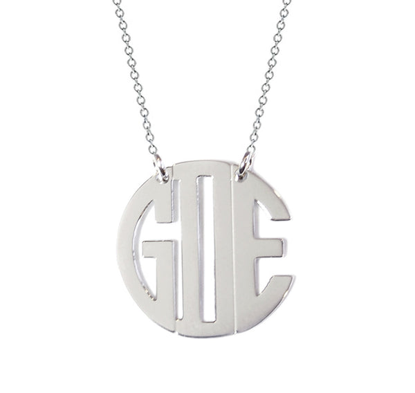 Miriam Merenfeld  Block Monogram Necklace - Split Chain Apparel & Accessories > Jewelry > Necklaces - 2