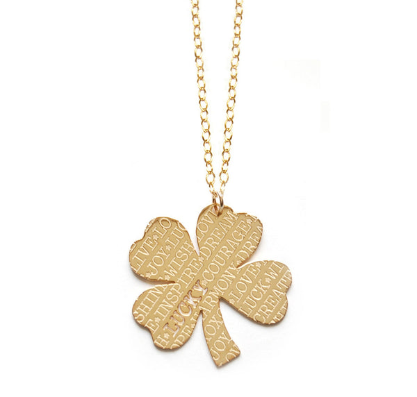 Miriam Merenfeld Lucky Four Leaf Clover Necklace Apparel & Accessories > Jewelry > Necklaces - 2