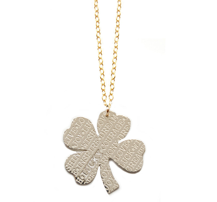 Miriam Merenfeld Lucky Four Leaf Clover Necklace Apparel & Accessories > Jewelry > Necklaces - 1