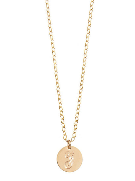 Miriam Merenfeld Initial Disc Necklace 11
