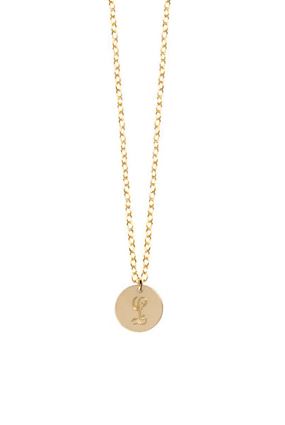 Miriam Merenfeld Initial Disc Necklace Apparel & Accessories > Jewelry > Necklaces - 3