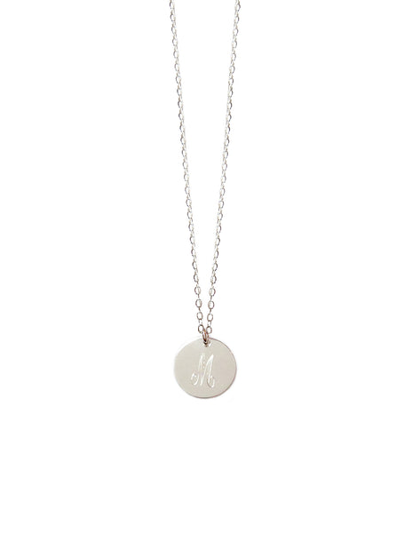Miriam Merenfeld Initial Disc Necklace Apparel & Accessories > Jewelry > Necklaces - 8