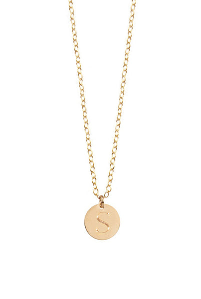 Miriam Merenfeld Initial Disc Necklace Apparel & Accessories > Jewelry > Necklaces - 4