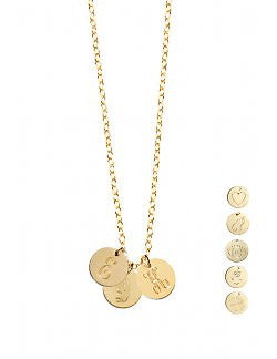 Miriam Merenfeld Initial Disc Necklace Apparel & Accessories > Jewelry > Necklaces - 7