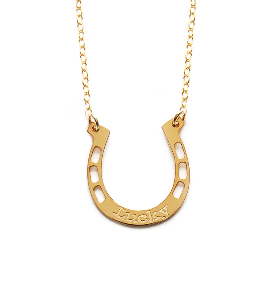Miriam Merenfeld Lucky Horseshoe Necklace Apparel & Accessories > Jewelry > Necklaces - 1