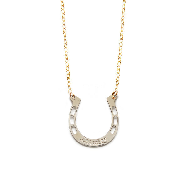 Miriam Merenfeld Lucky Horseshoe Necklace Apparel & Accessories > Jewelry > Necklaces - 3