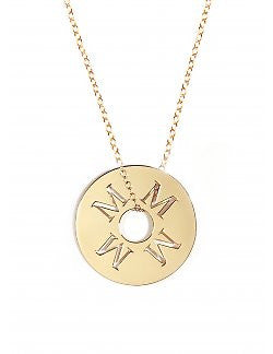 Personalized Initial Token Necklace by Miriam Merenfeld Apparel & Accessories > Jewelry > Necklaces - 1
