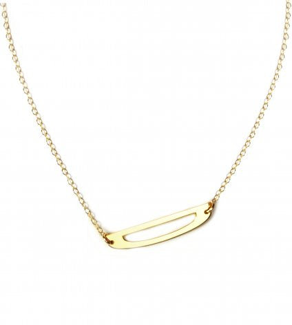 Large Sideways Initial Necklace-Miriam Merenfeld Apparel & Accessories > Jewelry > Necklaces - 4