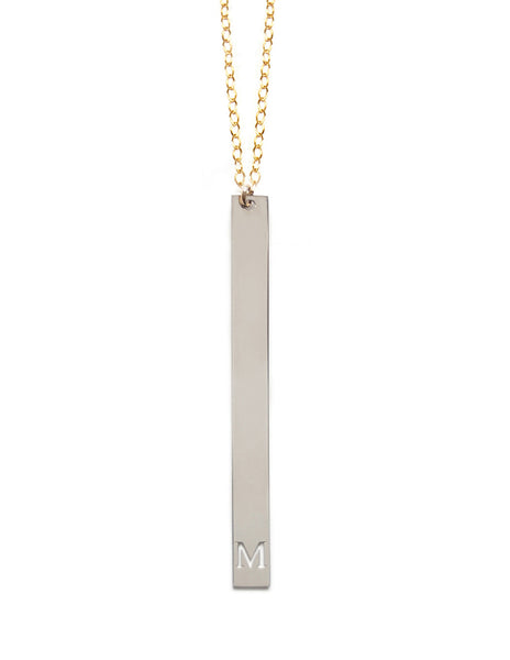 Miriam Merenfeld Personalized Vertical Initial Necklace Apparel & Accessories > Jewelry > Necklaces - 1