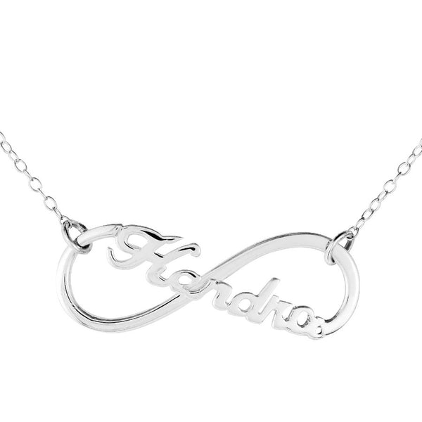 Infinity  Name Necklace by Purple Mermaid Designs Apparel & Accessories > Jewelry > Necklaces - 3
