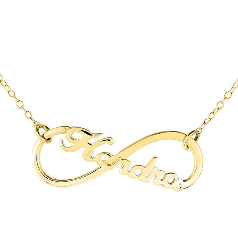 Infinity  Name Necklace by Purple Mermaid Designs Apparel & Accessories > Jewelry > Necklaces - 1