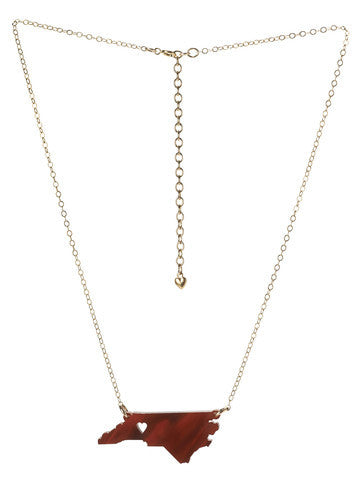 Acrylic State Necklace by Moon and Lola Apparel & Accessories > Jewelry > Necklaces - 5