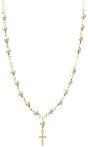 Swarovski Pearl Mini Rosary Necklace Apparel & Accessories > Jewelry > Necklaces - 1