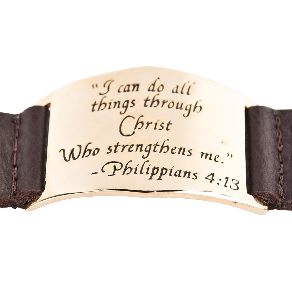 Lisa Stewart Leather Philippians Bracelet Apparel & Accessories > Jewelry > Bracelets