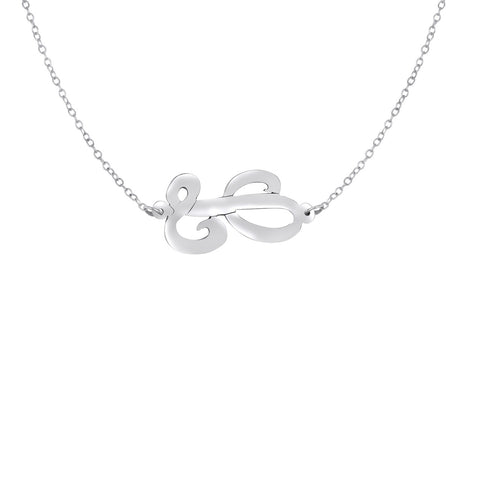 Script Sideways Initial Necklace Apparel & Accessories > Jewelry > Necklaces