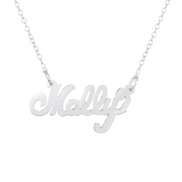 Sterling Silver Nameplate Necklace Apparel & Accessories > Jewelry > Necklaces