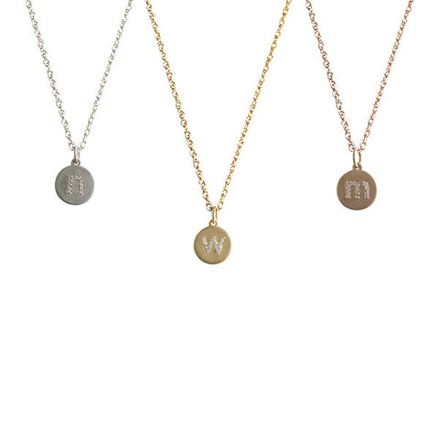 14K Gold Diamond Lowercase Initial Necklace Apparel & Accessories > Jewelry > Necklaces