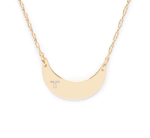 Moon and Lola Avis Moon Initial Necklace Apparel & Accessories > Jewelry > Necklaces