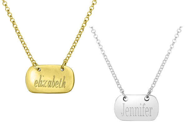 Engraved Tag Necklace Apparel & Accessories > Jewelry > Necklaces - 2