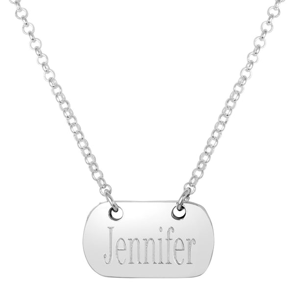 Engraved Tag Necklace Apparel & Accessories > Jewelry > Necklaces - 3