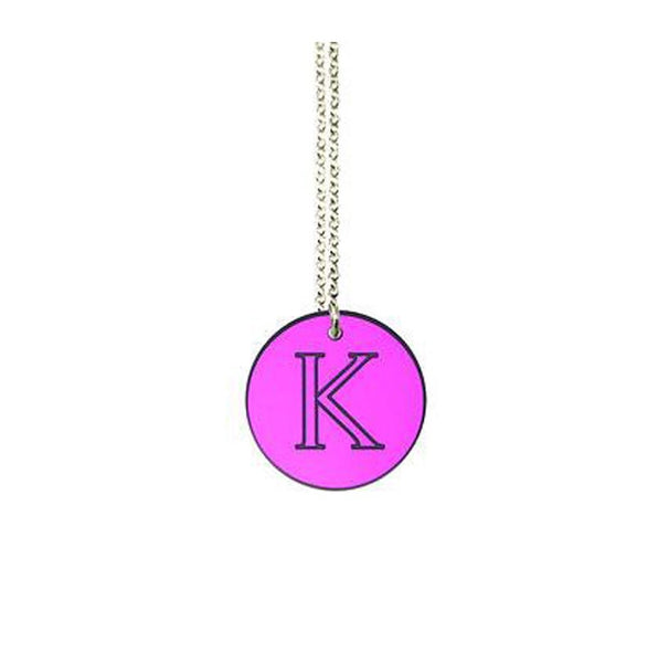 Acrylic Engraved Disc Necklace by Purple Mermaid Designs Apparel & Accessories > Jewelry > Necklaces - 3