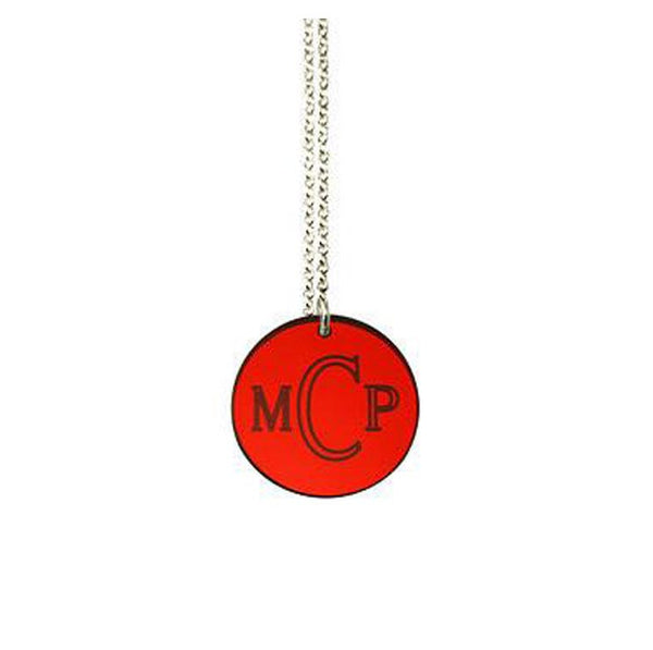 Acrylic Engraved Disc Necklace by Purple Mermaid Designs Apparel & Accessories > Jewelry > Necklaces - 4