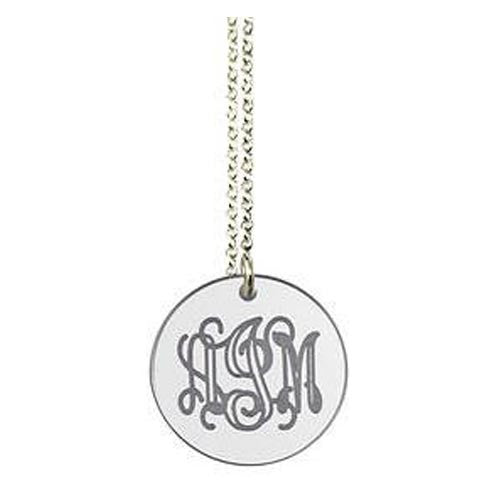 Acrylic Engraved Disc Necklace by Purple Mermaid Designs Apparel & Accessories > Jewelry > Necklaces - 2