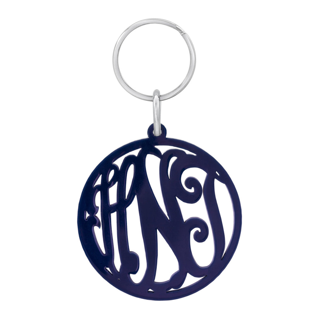 Script Acrylic Monogram Keychain Apparel & Accessories > Handbag & Wallet Accessories > Keychains - 1