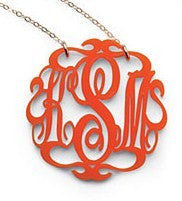 Acrylic Script  Monogram Necklace by Moon and Lola Apparel & Accessories > Jewelry > Necklaces - 6
