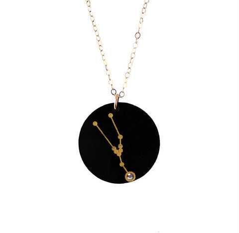 Acrylic Zodiac Constellation Necklace by Moon and Lola Apparel & Accessories > Jewelry > Necklaces - 1