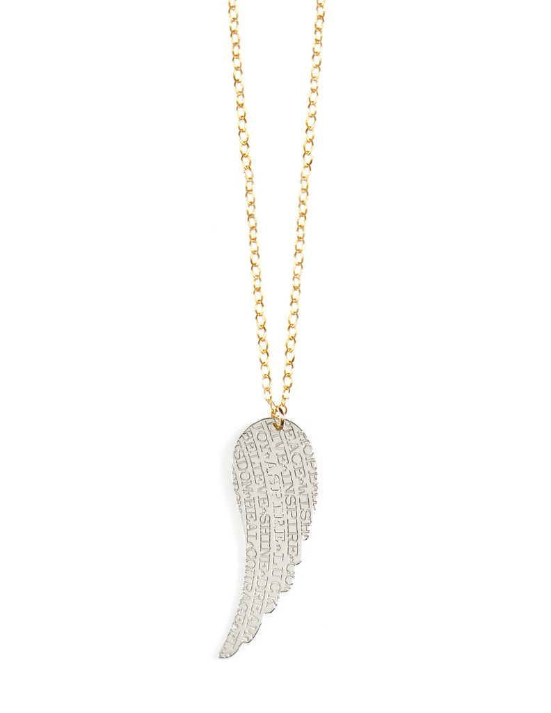Miriam Merenfeld Aspire Angel Wing Necklace Apparel & Accessories > Jewelry > Necklaces - 1