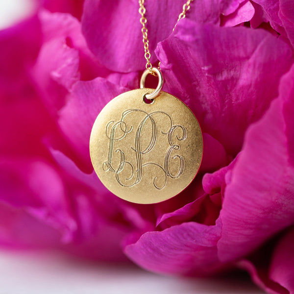 Medium 14K Gold Filled Monogram Necklace