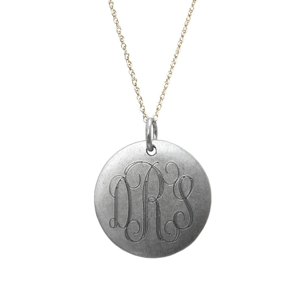 Medium  Monogram Necklace