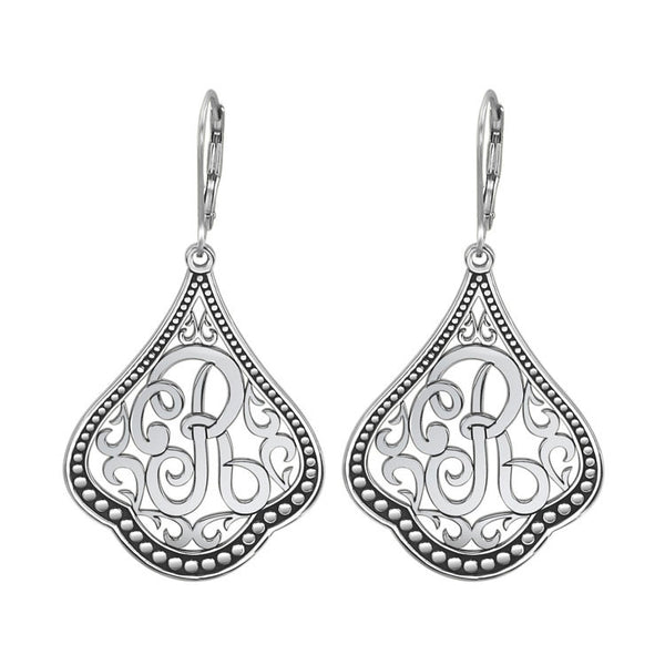 Classic Script Initial Earrings Apparel & Accessories > Jewelry > Earrings - 2