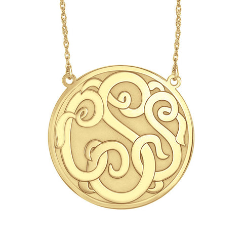 Recessed Script Monogram Necklace Apparel & Accessories > Jewelry > Necklaces - 1