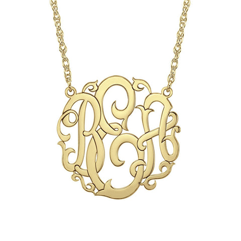 Vine Monogram Necklace-Alison and Ivy Apparel & Accessories > Jewelry > Necklaces - 1
