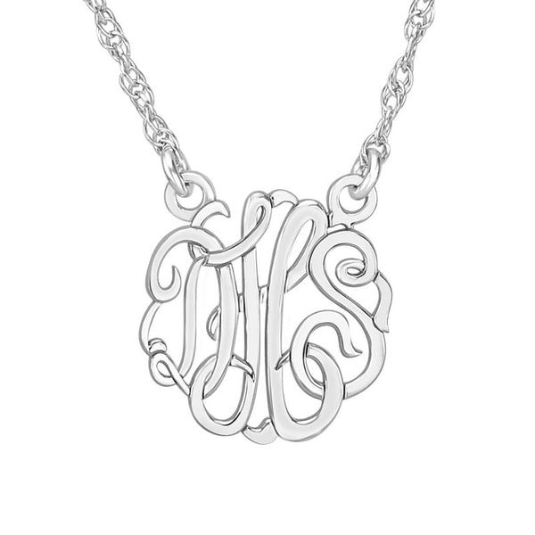 Classic Script Mini Monogram Necklace-Alison and Ivy Apparel & Accessories > Jewelry > Necklaces - 1
