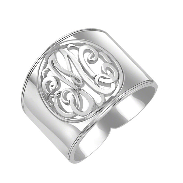 Cigar Band Classic Monogram Ring Apparel & Accessories > Jewelry > Rings - 2