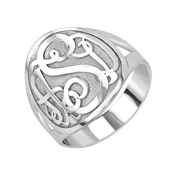 Classic Bordered Monogram Ring Apparel & Accessories > Jewelry > Rings - 2