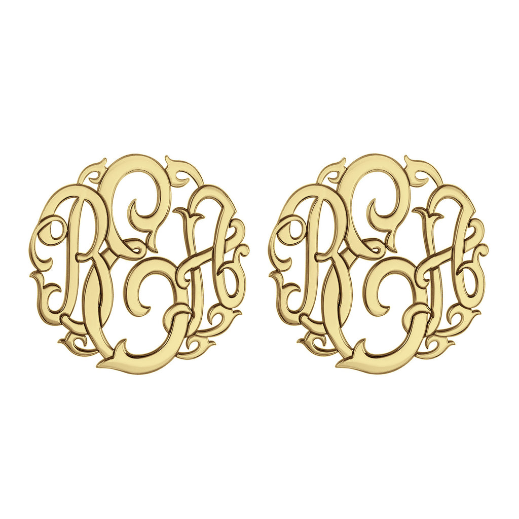Classic Vine Monogram Stud Earrings Apparel & Accessories > Jewelry > Earrings - 1