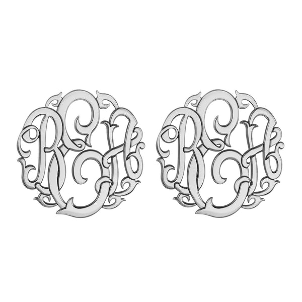 Classic Vine Monogram Stud Earrings Apparel & Accessories > Jewelry > Earrings - 2