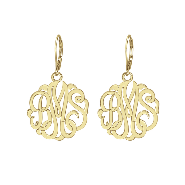 Classic Monogram Leverback Earrings Apparel & Accessories > Jewelry > Earrings - 2